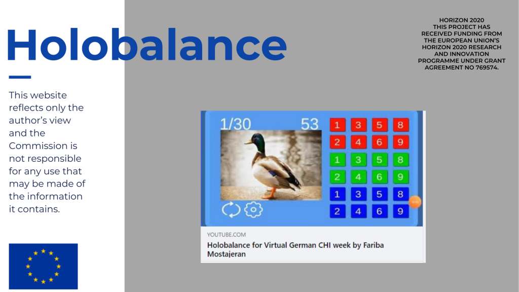 Holobalance in the virtual German CHI week