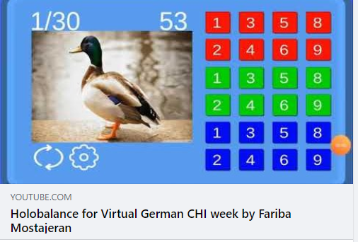 Holobalance in the virtual German CHI week